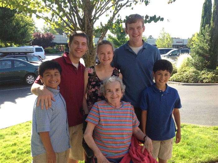 Fran Cruse With Her Grandchildren